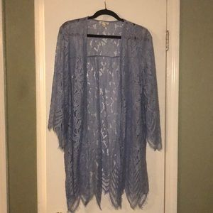 Adorable blue lace kimono!